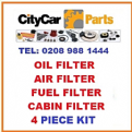 Citroen Xsara Picasso 2.0 HDi 00-06 Oil,Air,Cabin & Fuel Filter Service Kit